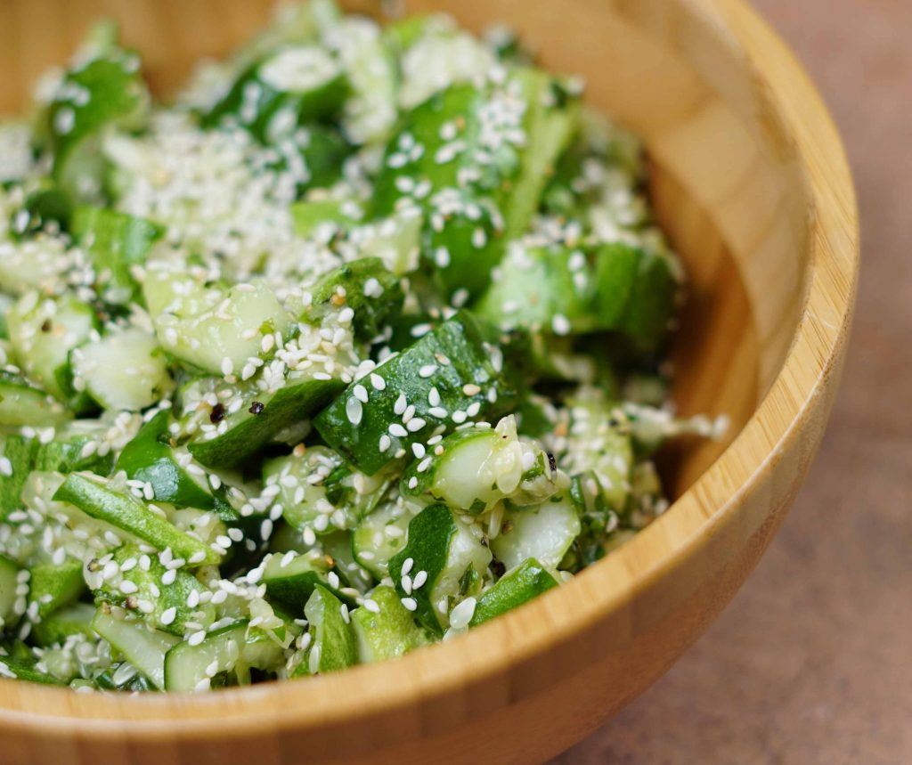smashed cucumber chow