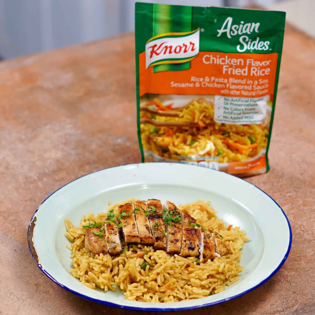 Pan Seared Chicken with Knorr Chicken Flavor Fried Rice