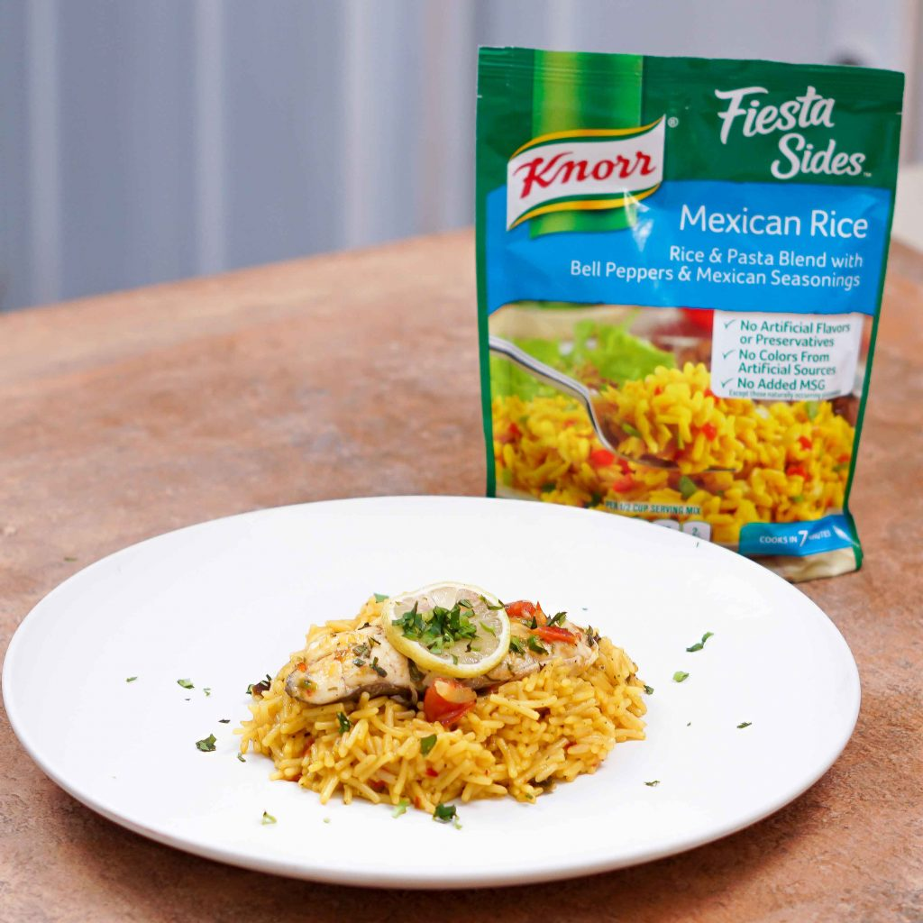 Trini Stewed Fish with Knorr Mexican Rice
