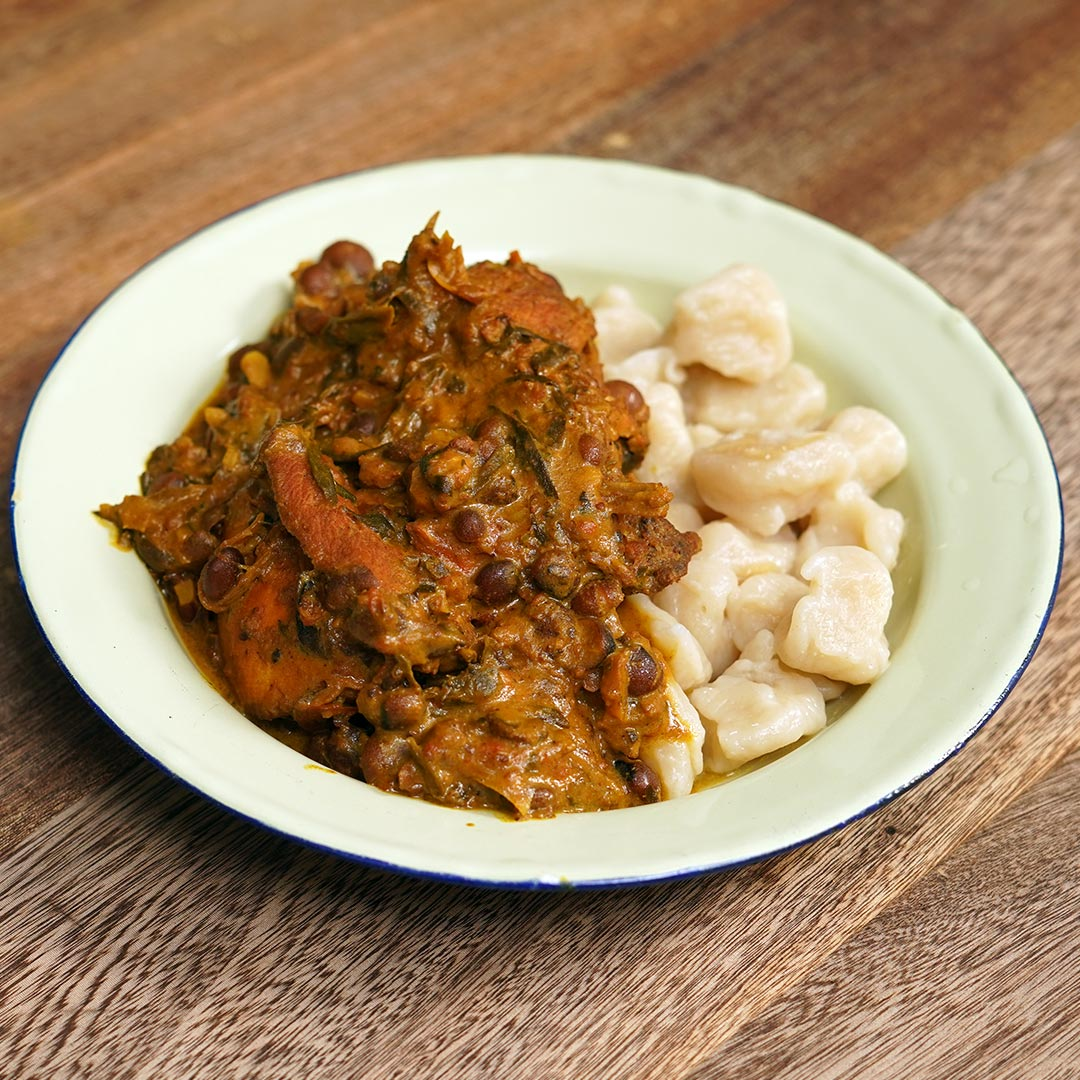 Curry Stew Chicken & Peas with Dumplings