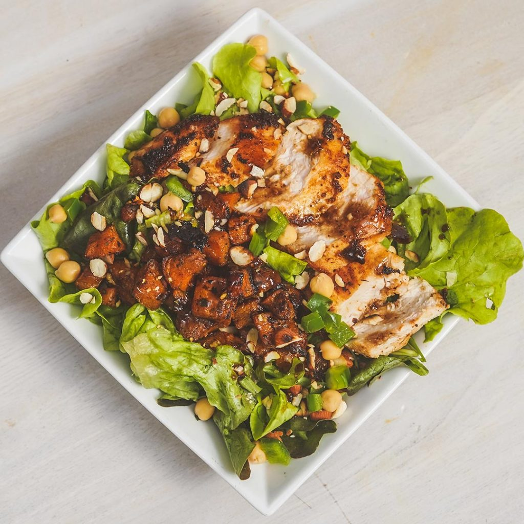 Roasted Pumpkin & Chicken Salad