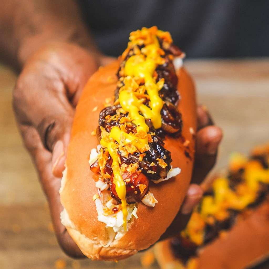 loaded hot dog